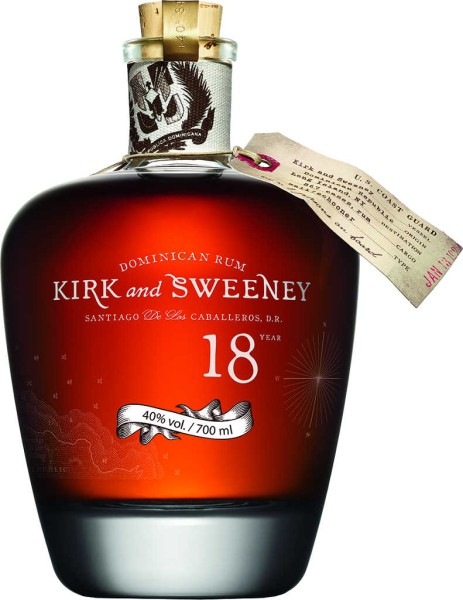 Kirk and Sweeney Rum 18 Jahre 0,7l