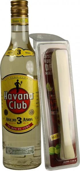 Havana Club Rum 3 Jahre 0,7 l mit Stößel