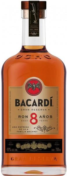 Bacardi Rum 8 Jahre 0,7 Liter