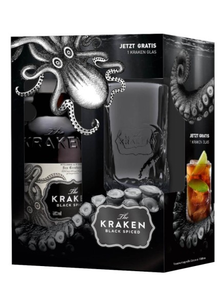 Kraken Black Spiced 0,7l mit Glas