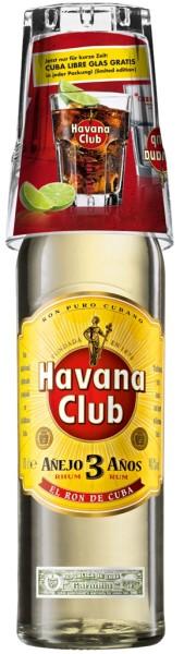 Havana Club 3 yrs. 0,7l mit Cocktailglas on Pack