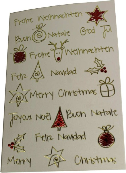 Grußkarte Feliz Navidad Rentier