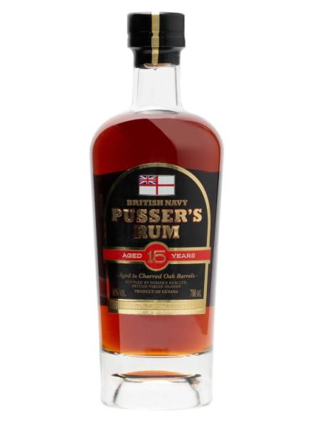Pusser's British Navy Rum 15 Jahre 0,7 l