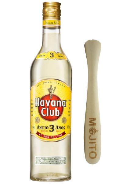 Havana Club 3 Jahre 0,7 Liter mit Stößel