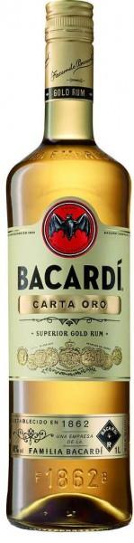 Bacardi Rum Carta Oro 1 l